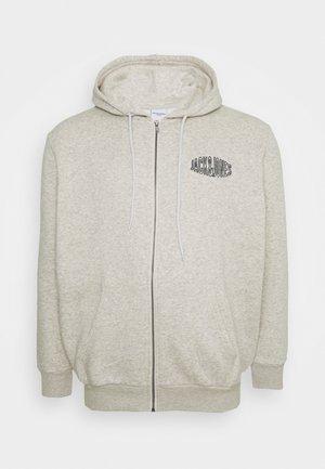 JORPRESTON ZIP HOOD  - Zip-up hoodie - white melange
