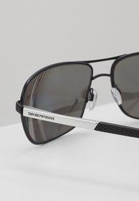 Emporio Armani - Solbriller - matte black/grey mirror silver - 4