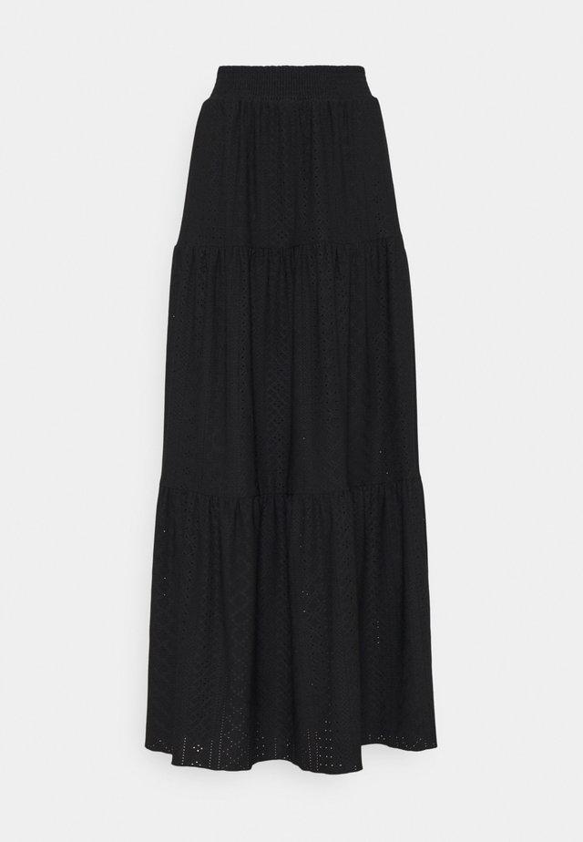 OBJRITTA - Maxi skirt - black