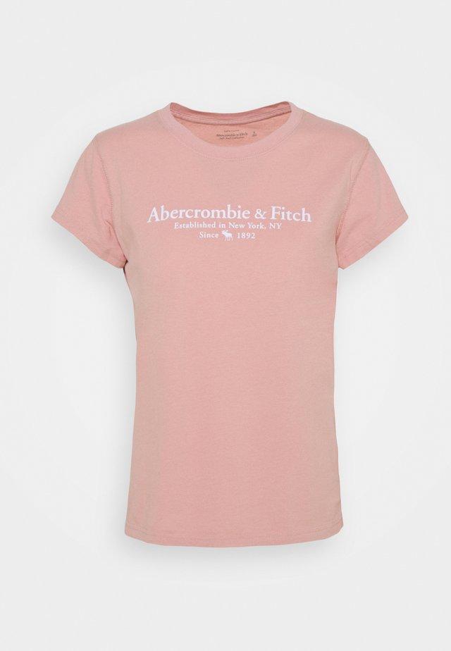 LOGO TEE - T-shirt con stampa - light pink