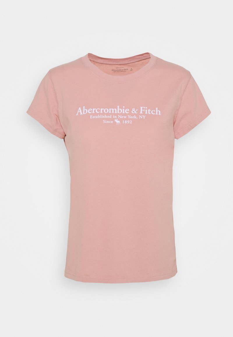 Abercrombie & Fitch - LOGO TEE - Print T-shirt - light pink