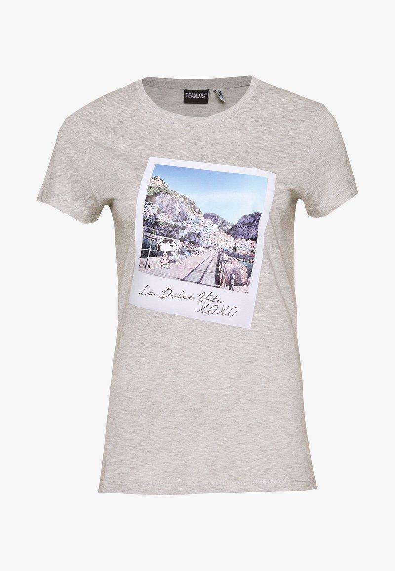 ONLY - ONLPEANUTS LIFE FIT PHOTO BOX - Print T-shirt - light grey