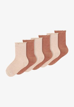 6ER-PACK - Socks - adobe rose