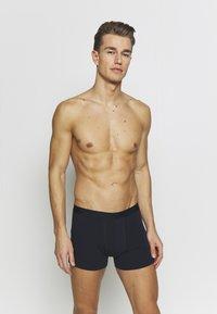 Pier One - 3 PACK - Panties - dark blue/mottled grey - 0