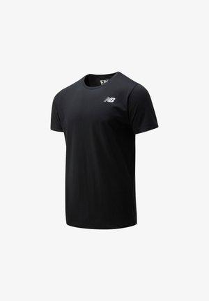 HEATHERTECH TEE - Print T-shirt - black