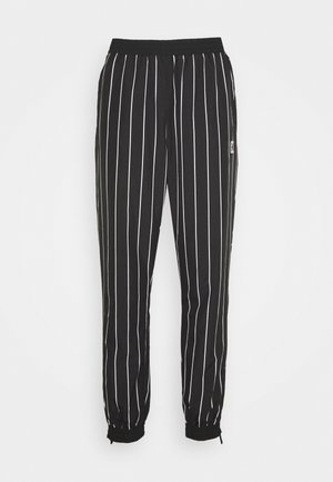 PINSTRIPE TRACK PANTS - Pantalon de survêtement - black