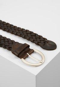 TOM TAILOR - Braided belt - dark brown - 2
