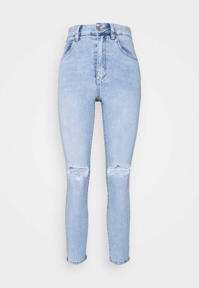 HIGH RISE CROPPED  - Jeans Skinny Fit - brighton blue