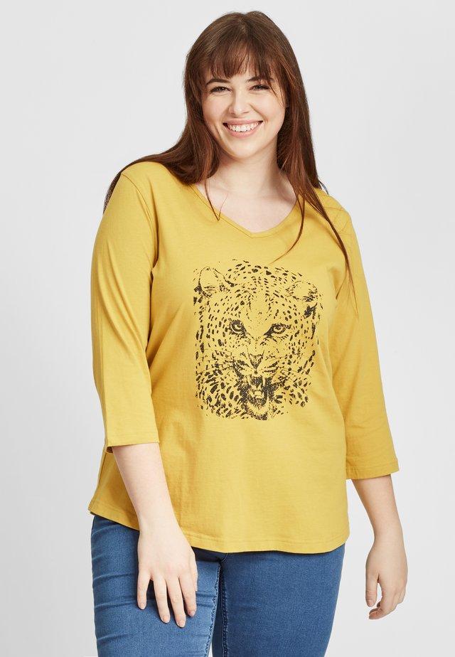 Långärmad tröja - dark yellow