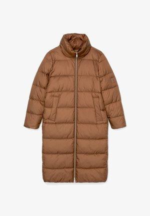 LONG PUFFER COAT - Winter jacket - fantastic brown
