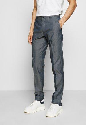 FLEX MACRO STRUCTURE SLIM PANT - Trousers - blue