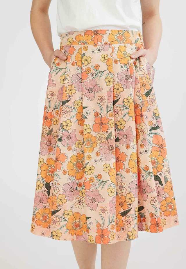 NELLY - Pleated skirt - multi coloured