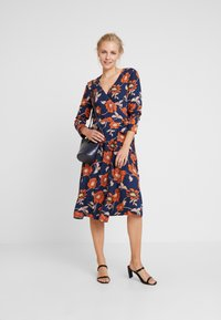 edc by Esprit - WRAP DRESS - Day dress - navy - 2