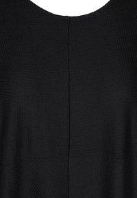Zizzi - EINFARBIGES MIT STRUKTUR - Day dress - black - 4