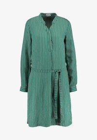 Re.draft - STRIPED DRESS - Robe chemise - cobalt green - 4