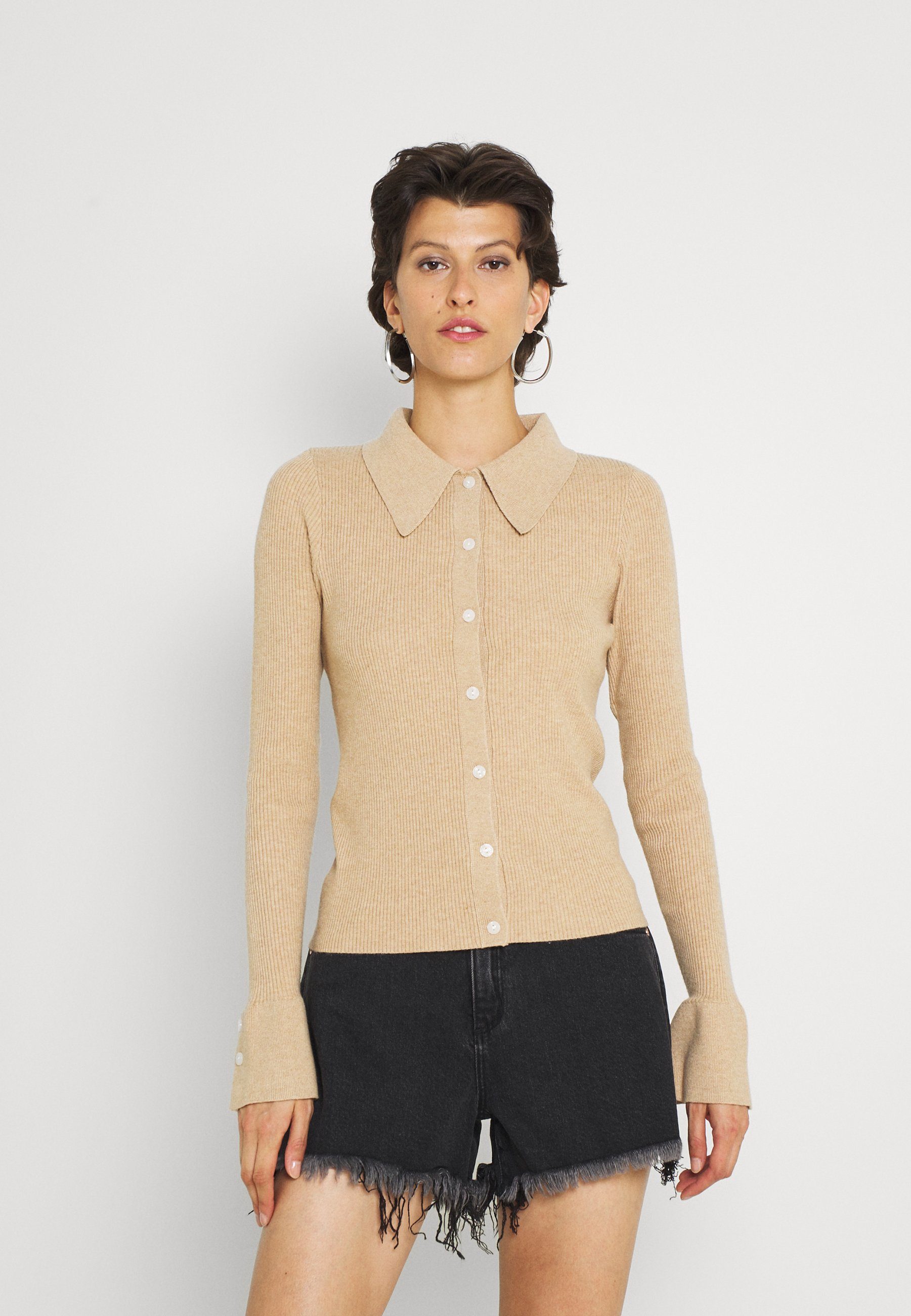 Mujer EBONY KNITTED BUTTON FRONT - Chaqueta de punto