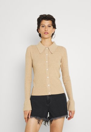 EBONY KNITTED BUTTON FRONT - Kardigan - camel