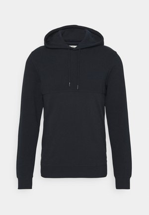 HOODY WITH STRUCTURE - Luvtröja - sky captain blue