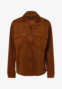 comma - Faux leather jacket - cognac - 3