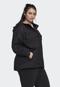 adidas Performance - BSC 3-STRIPES FOUNDATION PRIMEGREEN RAIN.RDY OUTDOOR JACKET - Waterproof jacket - black - 2