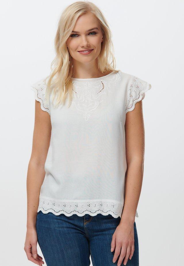 ANNE EMBROIDERED - Bluzka - white