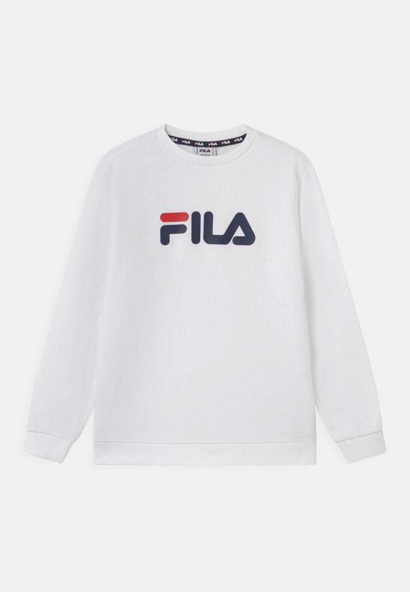 Fila - VIOLO LOGO CREW UNISEX - Sweatshirt - bright white