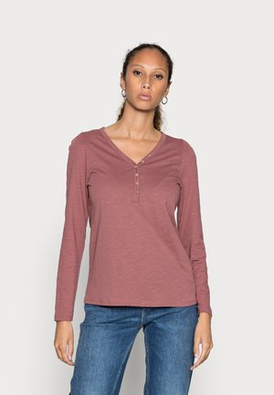 HENLEY - Long sleeved top - dark old pink