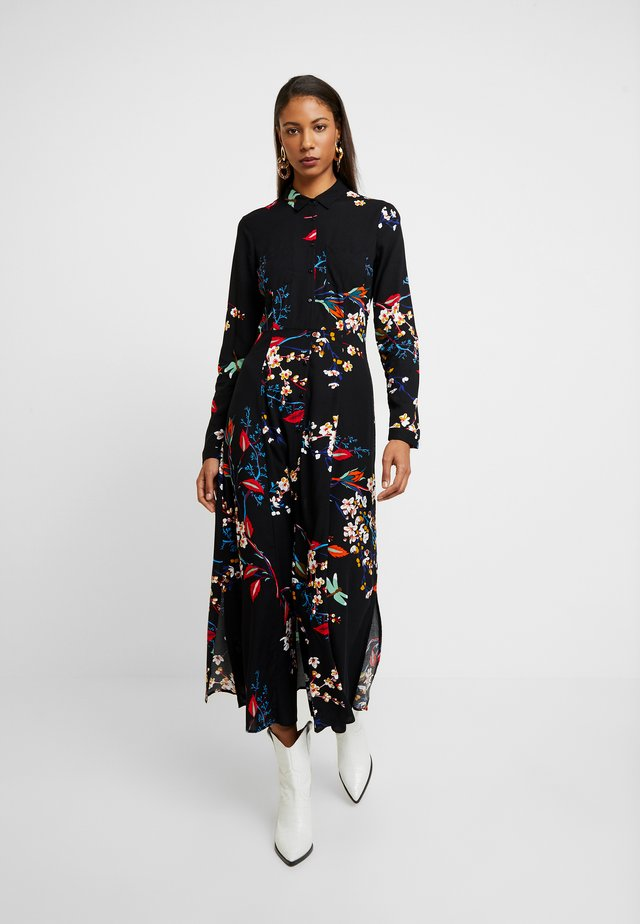 PRINTED DRESS - Skjortekjole - black