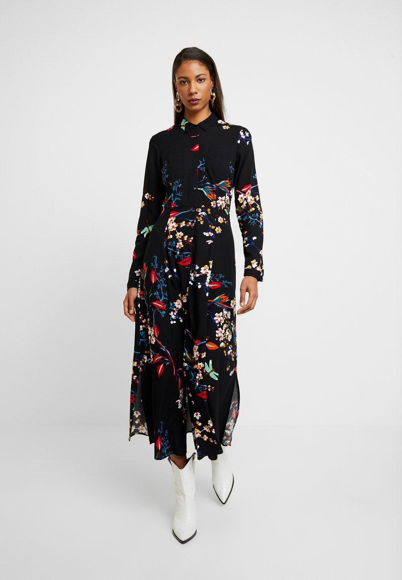 Mavi - PRINTED DRESS - Skjortekjole - black