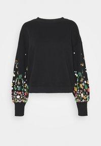 ONLY - ONLBROOKE O NECK FLOWER - Sweatshirt - black - 0