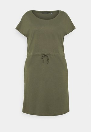 VMAPRIL SHORT DRESS - Trikoomekko - ivy green
