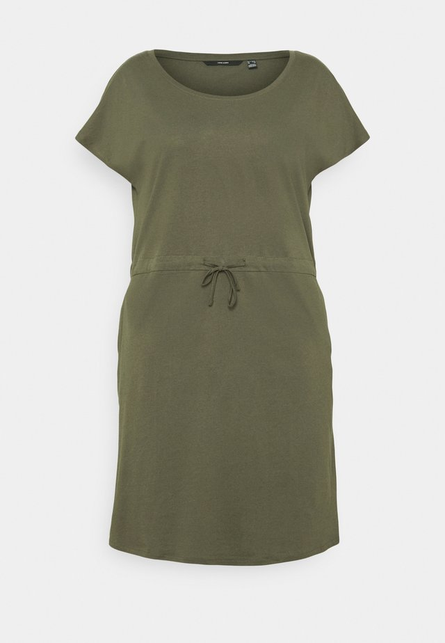 VMAPRIL SHORT DRESS - Trikoomekko - ivy green