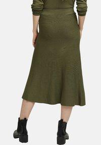 Esprit Collection - A-line skirt - khaki green - 6