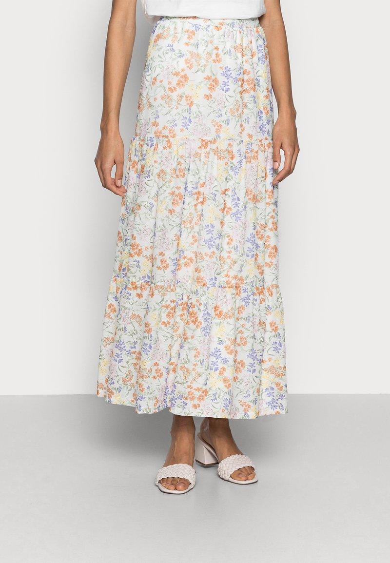 Esprit - SKIRT - Maxi skirt - off white