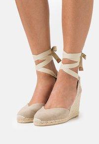 Castañer - CHIARA  - Platform sandals - sand - 0
