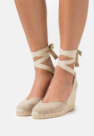 CHIARA  - Platform sandals - sand