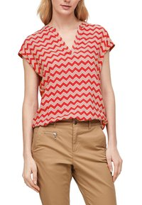 s.Oliver - Blouse - red zic zac stripes - 5