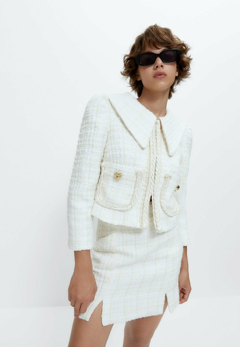 Uterqüe - Summer jacket - white