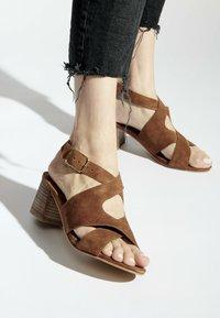 White Sun - MADINA  - Sandals - camel - 0