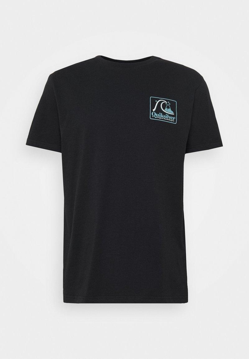 Quiksilver - BEACH TONES - Print T-shirt - black
