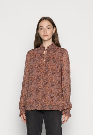 BYFIBBA BLOUSE - Long sleeved top - brown