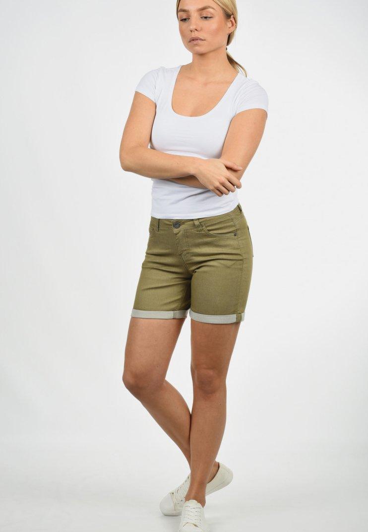 Desires - JEANSSHORTS LILA - Denim shorts - light green