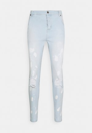 BLEACH SPLAT RIPPED KNEE - Vaqueros pitillo - ultra light wash