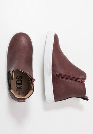 DARCY GUSSET BOOT - Støvletter - burgundy smooth