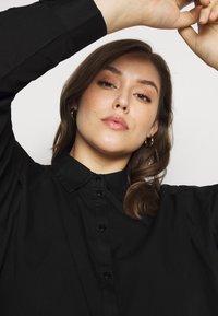 Pieces Curve - PCREMEY  - Button-down blouse - black - 3