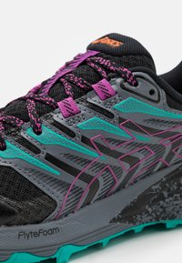 ASICS - GEL-TRABUCO TERRA - Scarpe da trail running - black/digital grape - 5