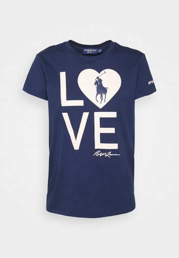 LOVE SHORT SLEEVE - T-shirt con stampa - spring navy