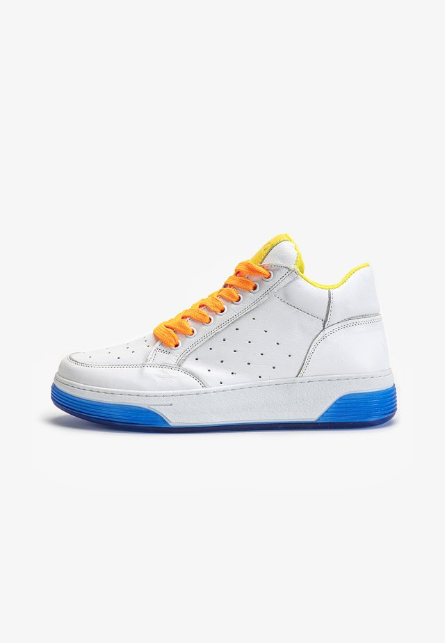Sneakers laag - yellow-neon pink ynp