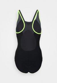 Speedo - LOGO - Swimsuit - black/fluo yellow/oxid grey - 1