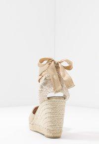 Castañer - CARINA  - High heeled sandals - oro claro - 5
